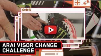 Embedded thumbnail for Arai Visor Change Challenge
